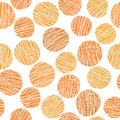 Scratched oranges grunge texture. Seamless pattern Royalty Free Stock Photo