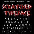 Scratched typeface Stock Photography