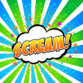 Scream comic speech bubble cartoon Royalty Free Stock Photo