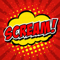 Scream comic speech bubble cartoon Royalty Free Stock Photography
