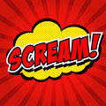 Scream! Comic Speech Bubble, Cartoon. Royalty Free Stock Photos