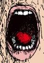 Scream (vector) Stock Images