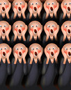 The screamers digital parody illustration of screaming man from scream by edvard munch Stock Photo