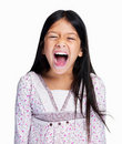 Screaming little girl Stock Photography