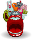 Screaming moster vector cool monsters eps Stock Image