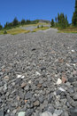 Scree Slope on Ring Mountain Stock Photo