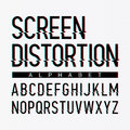Screen distortion alphabet Royalty Free Stock Photo