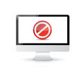 Screen with the message forbidden illustration design over white Royalty Free Stock Photo