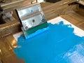 Screen printing device Stock Photos