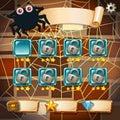 Screensaver of halloween theme game illustration Royalty Free Stock Image
