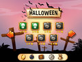 Screensaver of halloween theme game illustration Stock Image