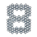 Screw number 8 Royalty Free Stock Photo