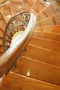 Screw wooden stair case Royalty Free Stock Photo