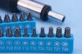 Screwdriver drill bits Royalty Free Stock Photo