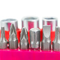 Screwdriver tips close up Royalty Free Stock Photo