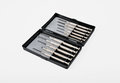 Screwdrivers set of small in a case Stock Image