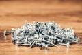 Screws fasteners hardware heap Royalty Free Stock Photo