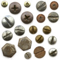 Screws, nuts and bolts Royalty Free Stock Photo