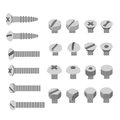 Screws and nuts set. Socket hexagon head bolts Royalty Free Stock Photo