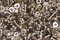 Screws, spacers and nuts mix Stock Photos