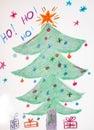 Scribble рождества Стоковая Фотография RF