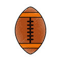 Scribble american football ball cartoon
