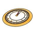 Scribble clock cartoon Royalty Free Stock Photo
