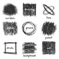 Scribble frames vector over white background Royalty Free Stock Photos
