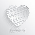 Scribble heart background design for valentine s day Royalty Free Stock Images