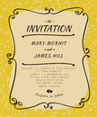 Scribble invitation to the wedding in the style of sketch Royalty Free Stock Photo