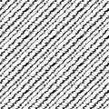 Scribble pattern black lined including seamless sample in swatch panel Royalty Free Stock Photo