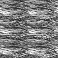 Scribble seamless hand drawn black and white Royalty Free Stock Photography