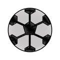 Scribble soccer ball cartoon