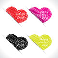 Scribble Valentine hearts Stock Image
