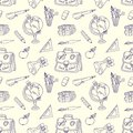 Scribble in a writing books seamless pattern book the school tools Stock Image