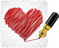 Scribbled heart shape. Royalty Free Stock Photography