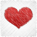 Scribbled heart shape. Stock Photos