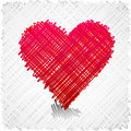 Scribbled heart shape. Royalty Free Stock Images