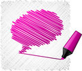 Scribbled speech shape. Stock Image