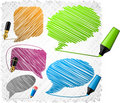 Scribbled speech shapes. Royalty Free Stock Photo