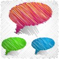 Scribbled speech shapes. Royalty Free Stock Photography
