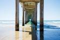 Scripps pier in la jolla california Stock Photo