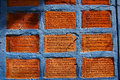 Scripture brick this is a in phichit it is a prayer that believers inscribed on the walls of the church it is located in the north Stock Photos