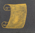 Scroll a brown drawn with brown chalk on a plate of slate Royalty Free Stock Photography