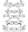 Scroll, cartouche, decor, vector Royalty Free Stock Photo