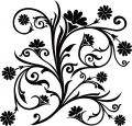 Scroll, cartouche, decor, vector Royalty Free Stock Image