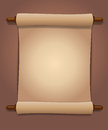 Scroll of old paper vector image Royalty Free Stock Photography