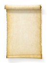 Scroll of old yellowed paper Royalty Free Stock Photo