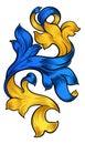Scroll Pattern Filigree Floral Heraldry Design Royalty Free Stock Photo