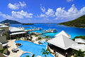 Scrub island british virgin islands wide overview pools to marina sea Stock Image